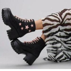 Kyoko Pink Starry Boots